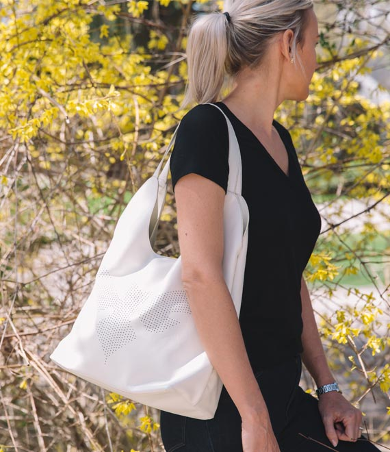 The Kingston Tote Cloud White