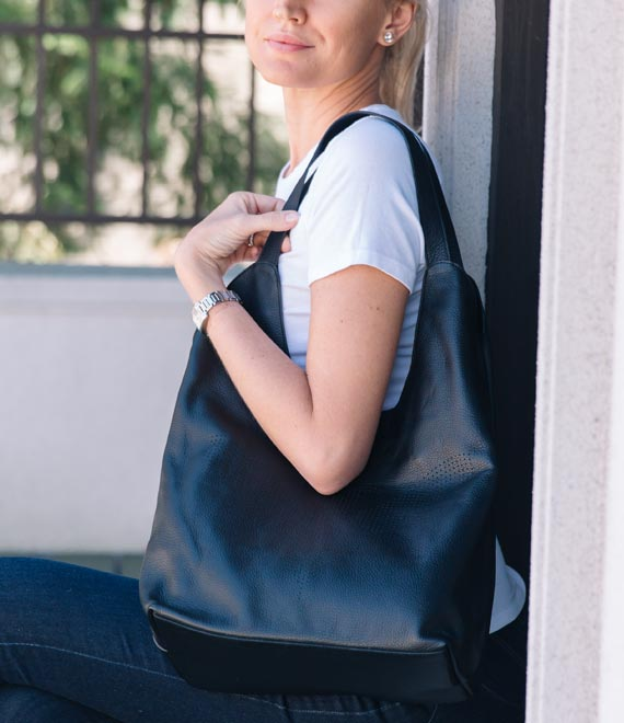 The Kingston Tote Runway Black